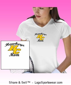 Champion Ladies Wicking V-Neck MOM Tee Design Zoom